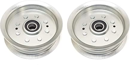 2 PK, Steel Flat Idler Pulley Replaces John Deere, Scotts, or Sabre Pulley GY22082 GY20629, GY20639, GY20110 (2)