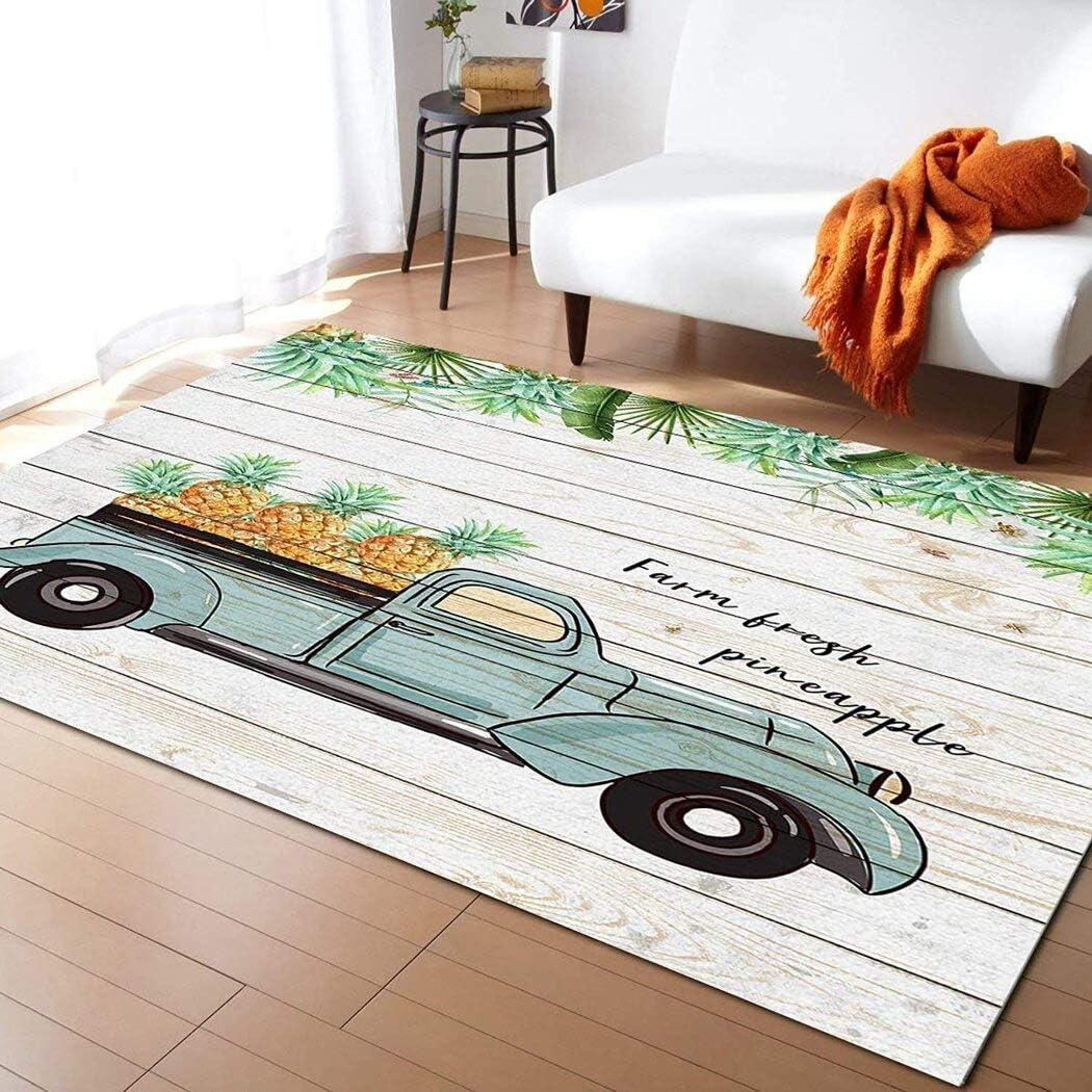 Truck Popular popular Full Of Farm Fresh Pineapple Tropical Leaves Wood Bo Palm unisex