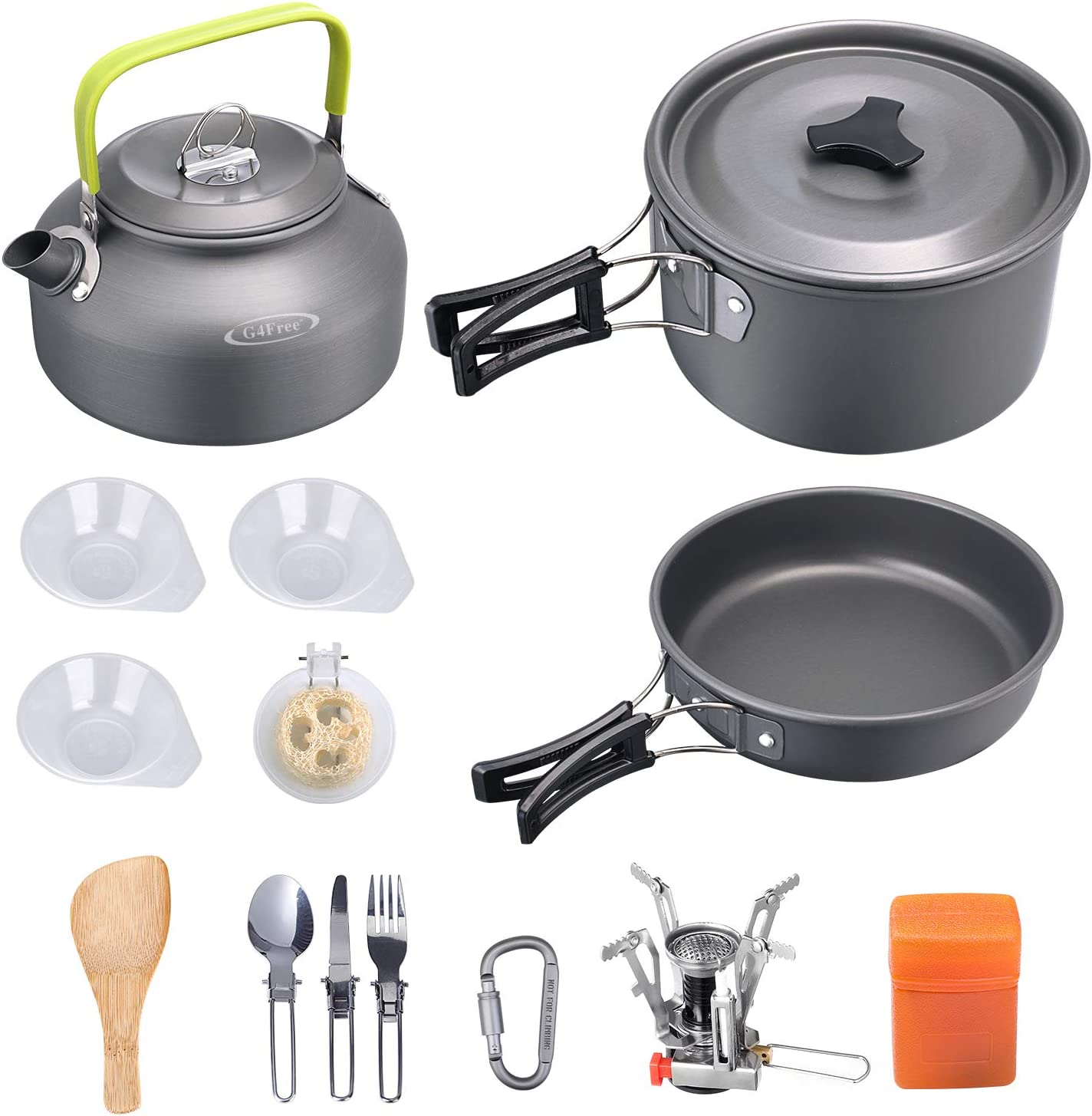 Max 50% OFF G4Free 13 15 PCS Camping Cookware Kit Campfire Outdo Mess Kettle Nashville-Davidson Mall