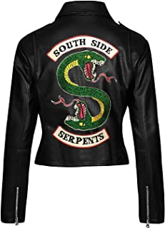 AKMAK Riverdale Southside Serpents Jughead Jones Real Leather Women's Biker Jacket