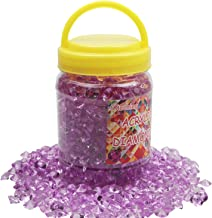 Meching 1100 PCS(11 OZ) Acrylic Diamonds Wedding Table Gems Scatter Crystals Rhinestones for Table Centerpiece Decorations, Vase Fillers, Wedding Decorations, Birthday Decoration (Purple, 10 MM)