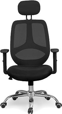 Due-home Silla de Oficina ergonomica, Silla para Escritorio o Estudio, Medidas: