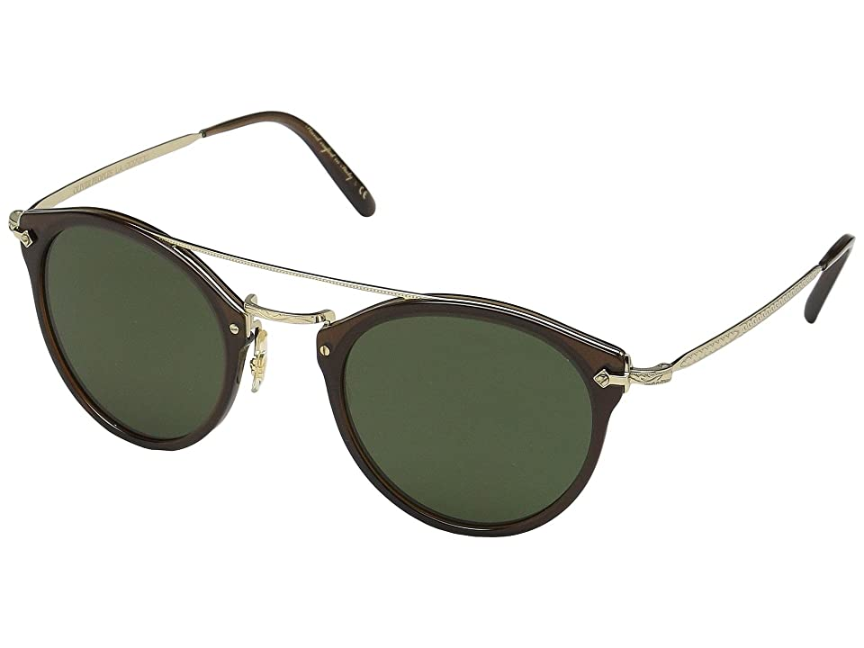 Oliver Peoples Remick (Espresso/Gold) Fashion Sunglasses