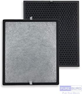 PUREBURG Replacement 1 HEPA Filter and 1 Carbon Pad Compatible with Levoit Air Purifier LV-PUR131 LV-PUR131S Part LV-PUR131-RF