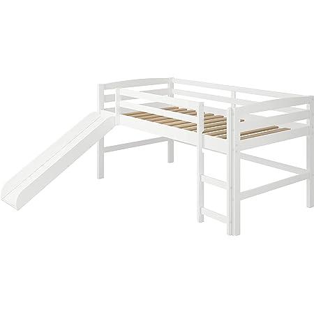 Woodcrest Mini Slide Loft Bed, Twin, White