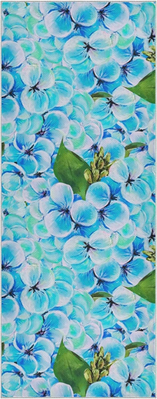 Max 86% OFF Yoga Towel Non Max 73% OFF Slip Blue Hydrangea Retro Beautiful Mat
