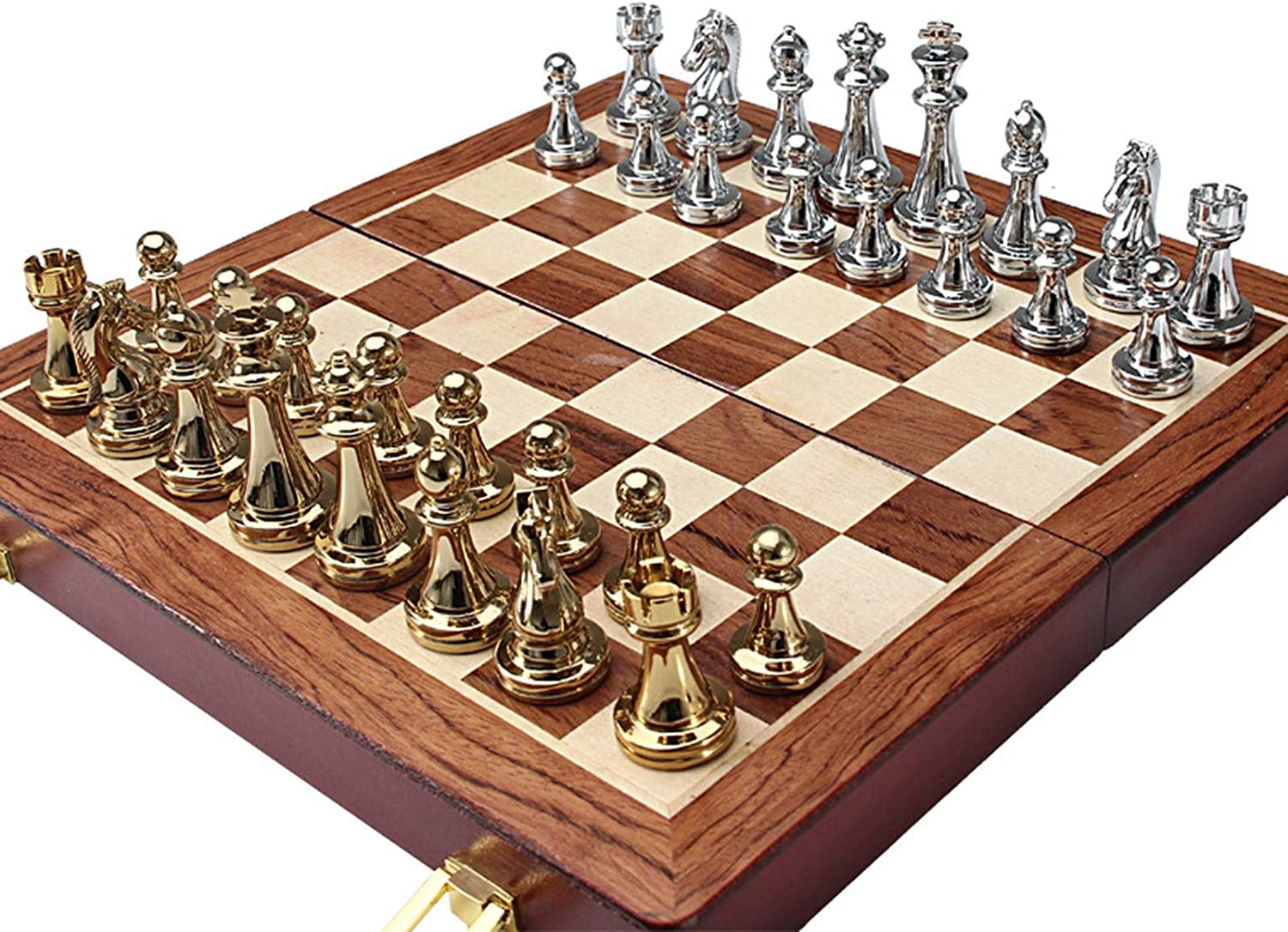 B R Metal Deluxe Chess Folding Luxury Alloy Walnut Set Pieces and shop