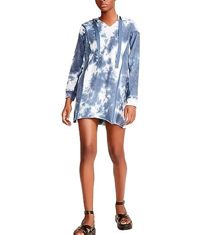 Madden Girl Hoodie Dress w/ Twill Trim High-Low Hem