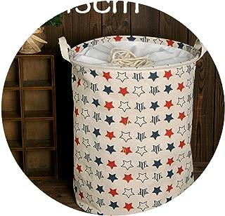 Krystal_wisdom Laundry Basket Large Hamper Foldable Bag for Dirty Clothes Organizer Laundry Bag Picnic Baskets Print Toy Gift Organizer,Dark Gray
