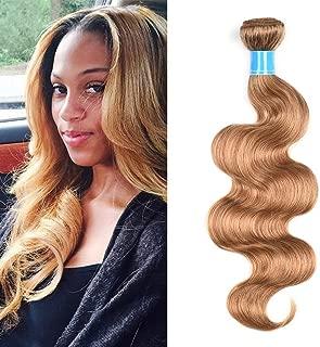 JulyQueen Virgin Brazilian Hair Weave Bundles 27 Honey Blonde Color Body Wave Weft Hair Extension Human Hair Bundle 16 Inch