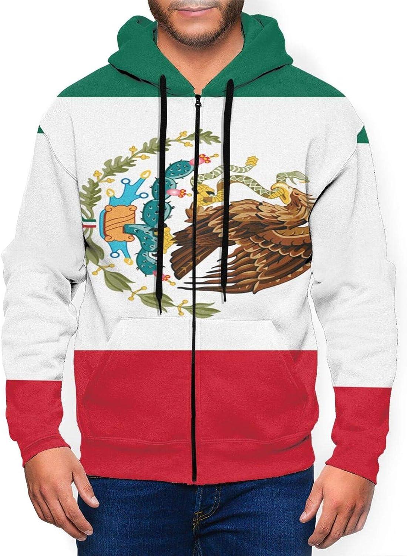 Hello Gorgeous Mens Full Super-cheap Zip Hoodie Mexico Flag Of Sweatshirt No Department store