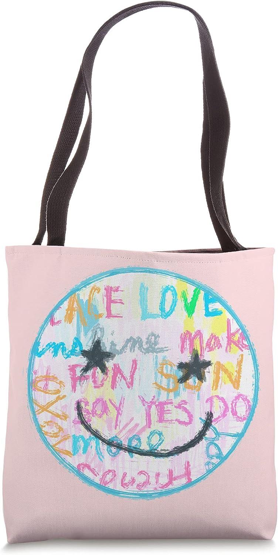 Pretty Art, Smiley Face, Happy Face, Preppy Aesthetic Tote Bag