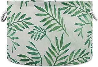 Okrągły kosz do przechowywania kosz liście palmowe wzór składany wodoodporny kosz na pranie niemowlę żłobek organizer z uc...