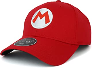 Officially Licensed Super Mario Bros Logo Embroidered Flex Fitted Cap