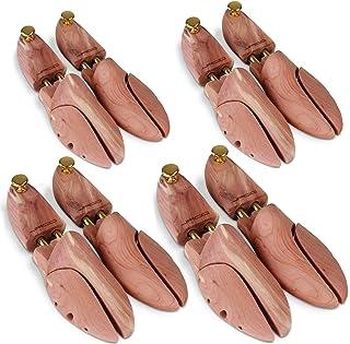 Schuhspanner – 1, 2 oder 4 Paar, aus Zedernholz und Aluminium, mit Spiralfeder, 37..
