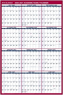 "Academic Erasable Calendar 2020-2021, AT-A-GLANCE Wall Calendar, 32"" x 48"", Jumbo, Dry Erase, Reversible, Vertical/Horizontal (PM36AP28)"