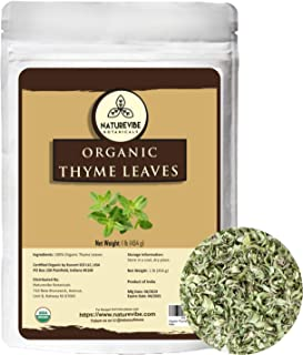 Sponsored Ad - Naturevibe Botanicals Organic Thyme Leaves, 16 ounces (1lb) | Non-GMO and Gluten Free | Adds Aroma and Flavor
