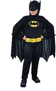 Ciao Hello-Batman Dark Knight Costume Original Dc Comics (Size 8-10 Years), Color, 11670.8-10, anni