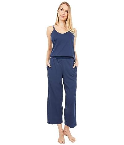Skin Suri Organic Pima Cotton Double Strap Cami with Crop Pants (Blue Caviar) Women