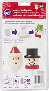Wilton 4 Cavity Snow and Santa Marshmallow Pop Mold, Multi-Colour