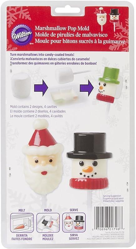 Wilton 2115 1798 Marshmallow Candy Mold Snowman And Santa
