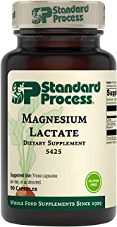 Standard Process Magnesium Lactate - Whole Food Energy, Bone, and Muscle with Magnesium Lactate - Gluten Fr...