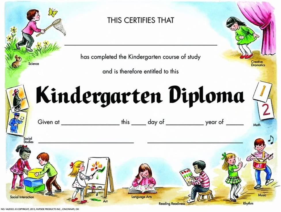 All items in Dedication the store Kindergarten Diploma - Matte Quantity 210 Paper