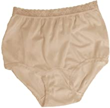Carole Women's Nylon Lace Trim Panties Full Cut Briefs - Pack of 3