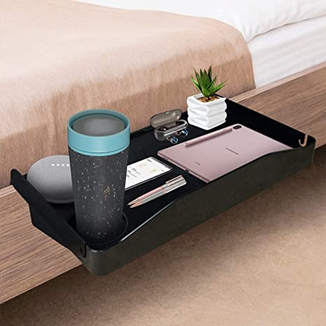 Bedside Shelf For Bed Side Organizer Attachment Tray For Bunk Bed Clip On Night Stand With Cup Holder Amazon Ca Home
