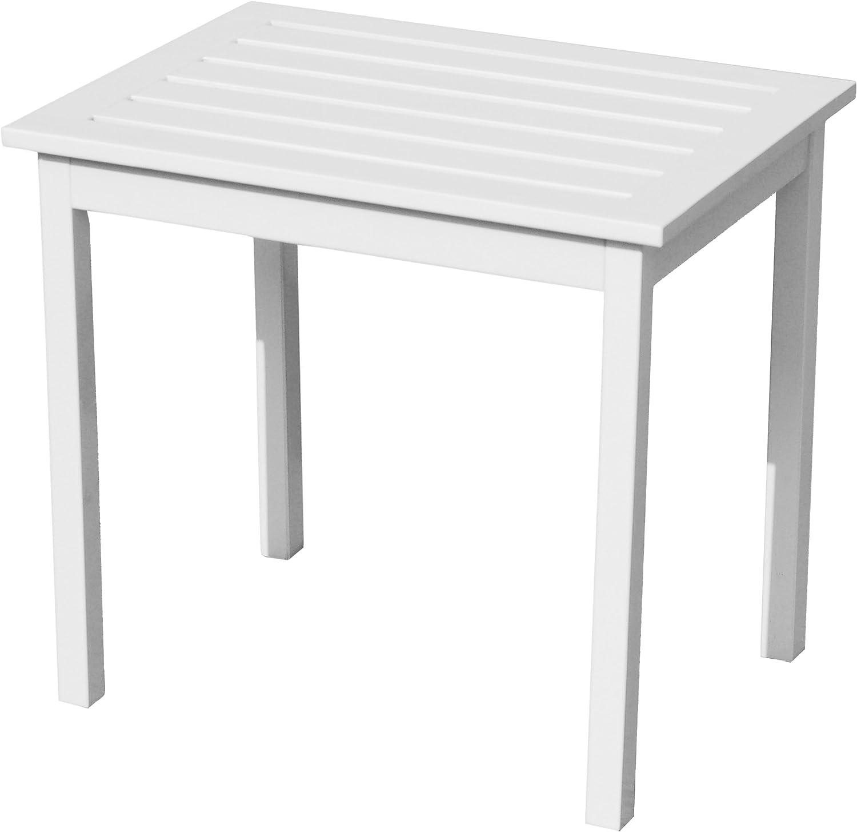 Hardwood Side End Table - Hard Wood Construction - Painted White Finish
