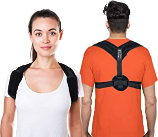 Back Posture Corrector by Malvz Health for Men  Women - Adjustable and Comfy Discreet Upper Clavicle  Brace - Correct Spinal Slouch and Hunch  as it Provides Pain Relief to Neck Back and Shoulders