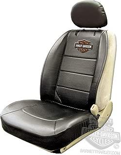 Harley-Davidson Seat Cover Sideless Black With Orange B&S - Single