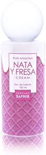 PARFUMS SAPHIR Fruit Attraction Nata y Fresa Cream Eau de Toilette para Mujeres - 100 ml