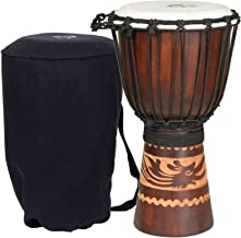 X8 Kalimantan Djembe Drum with Bag and Djembe 101 DVD
