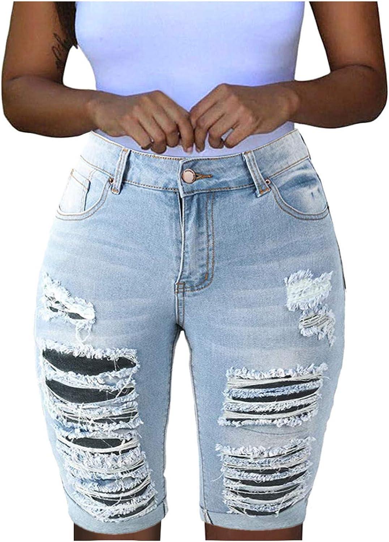 SHOPESSA Women's Mid-Rise Bermuda Shorts 7