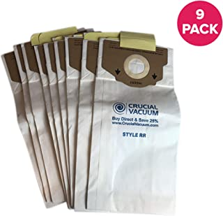 Crucial Vacuum Replacement Vac Bags - Compatible with Eureka Part # 61115, 61115A, 61115B - Fits Eureka RR Paper Bags Fit Ultra and Boss Smart - Use for Home, Office (9 Pack)