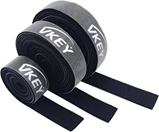 Vkey 3M Cable Ties Reusable Tape Wraps Roll Adjustable Wire Organizer Cord Rope Holder with Fastening Hook Loop for Comput...