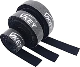 Vkey 5M Cable Ties Reusable Tape Wraps Roll Adjustable Wire Organizer Cord Rope Holder with Fastening Hook Loop for Computer Cable Management (5M)