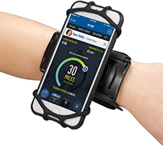 Newppon Cellphone Holder Running Wristband :for iPhone Xs Max Xr X 6s 7 8 Plus Samsung Galaxy S9+ S8 S7 Google Pixel LG HTC, 180° Rotatable Elastic Armband for Gym Fitness Workout