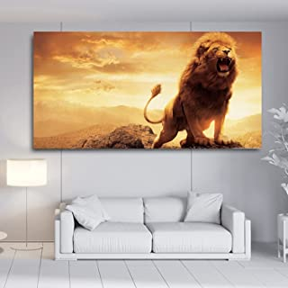 SIA VENDORS™ Lion Wall Poster Canvas Print Oil Painting Poster Art Print Modern Home II Living Room II Bedroom II Office W...