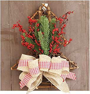 Virility Christmas Ornaments with Red Berry Pine, 16'' Festive Décor Wreath for Front Door