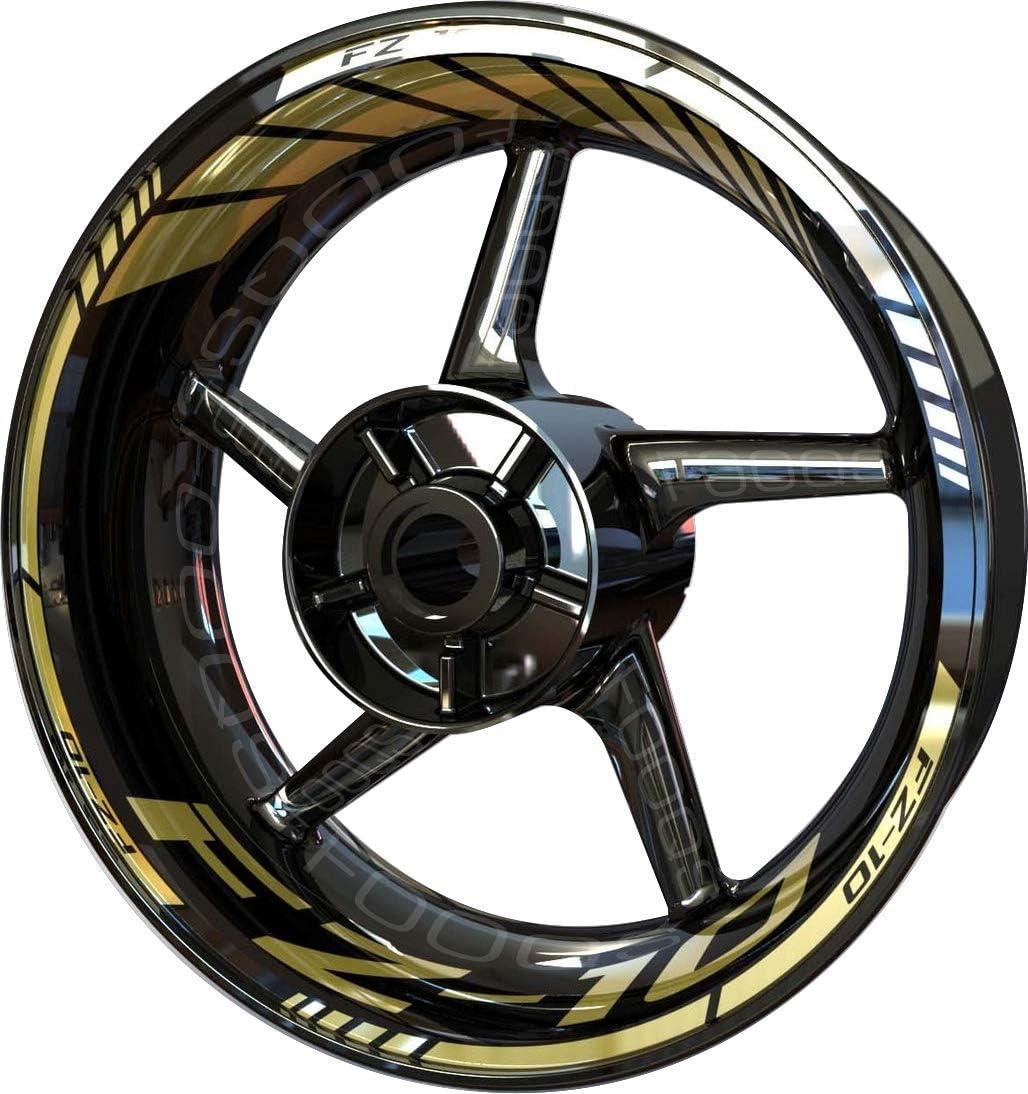 Max 80% OFF Motorcycle Rim Sticker F2 Max 45% OFF for Yamaha FZ-10 10 FZ10 Gold FZ