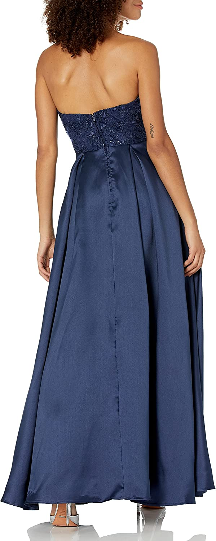 Speechless Women's Lace to Tafetta Full-Length Formal Prom Dress