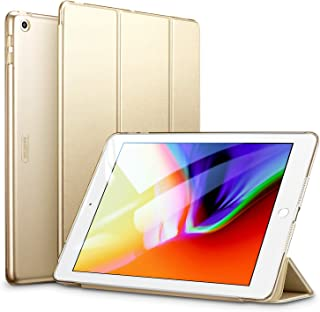 ESR Yippee Trifold Smart Case for iPad 9.7 2018/2017, Lightweight Smart Cover with Auto Sleep/Wake, Microfiber Lining, Hard Back Cover for iPad 9.7 iPad 5th / 6th Generation, Champagne Gold