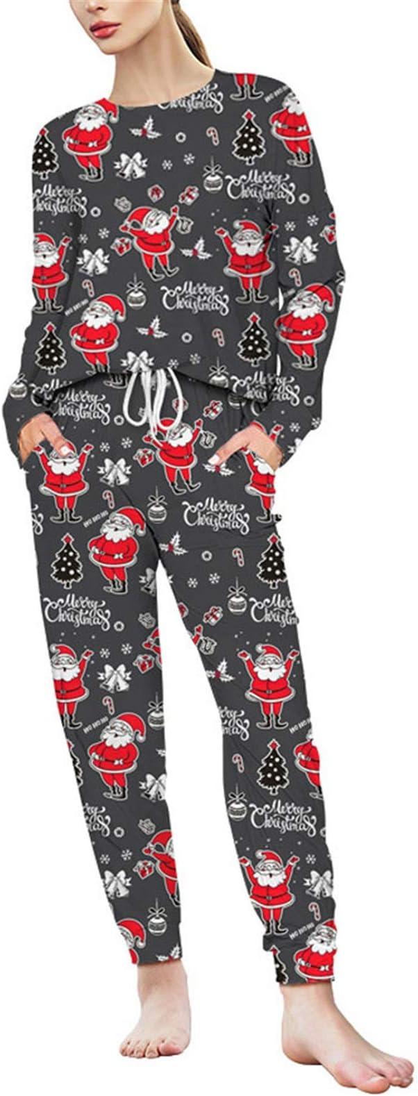 Conjunto de Pijamas para Mujer, Mujer de Navidad de Santa ...