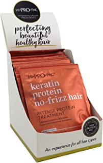 Hi-Pro-Pac Keratin Protein No-Frizz Hair Intense Protein Treatment 1.75 Ounce Packettes (12 Pieces) (51ml)