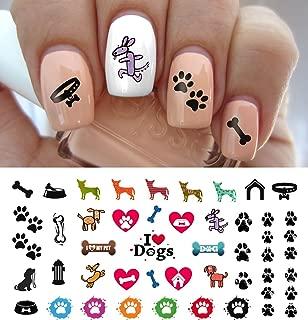 I Love My Dog Paw Prints Water Slide Nail Art Decals- Salon Quality 5.5