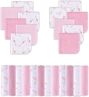 Viviland Cotton Baby Washcloths, Extra Soft and Ultra Absorbent Terry Bath Towel, 24pcs Gift Pack