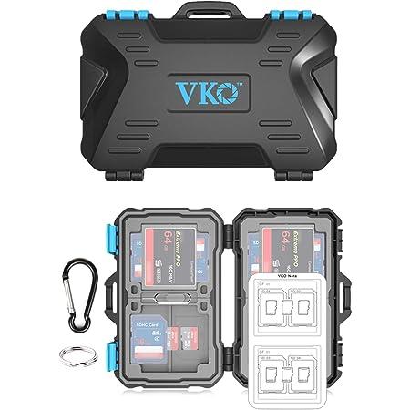 VKO メモリーカードケース SDHC SDXC microSD CF SDカードケース SDカード収納ケース SDカードホルダー micro SD CF SDカードプロテクター(24スロット)