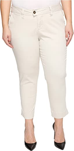 Plus Size Creston Ankle Crop in Bay Twill